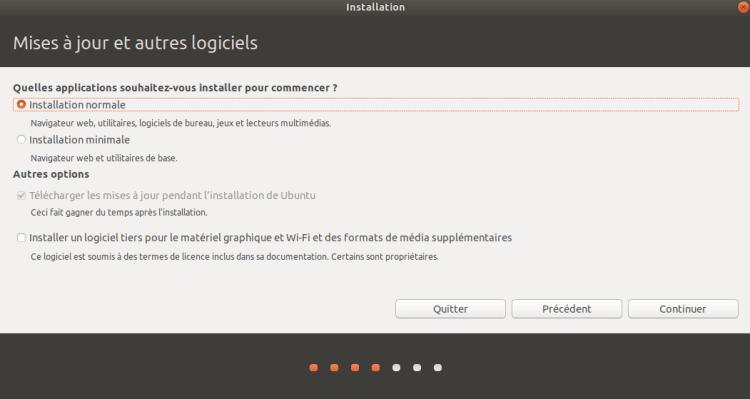 Installation normale dUbuntu 1024x545 - Logiciels Libres : Linux, pourquoi choisir Ubuntu et comment installer la version 18.04 sous Workstation