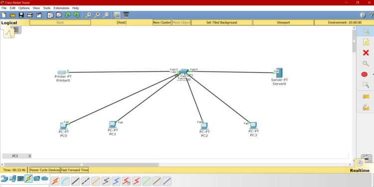 Schema Réseau DHCP Cisco packet tracer 1 1024x513 - Configuration du serveur DHCP sous Cisco Packet tracer