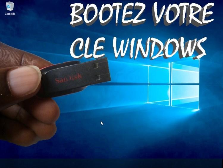 Bootez votre clé usb sans logiciel - Windows