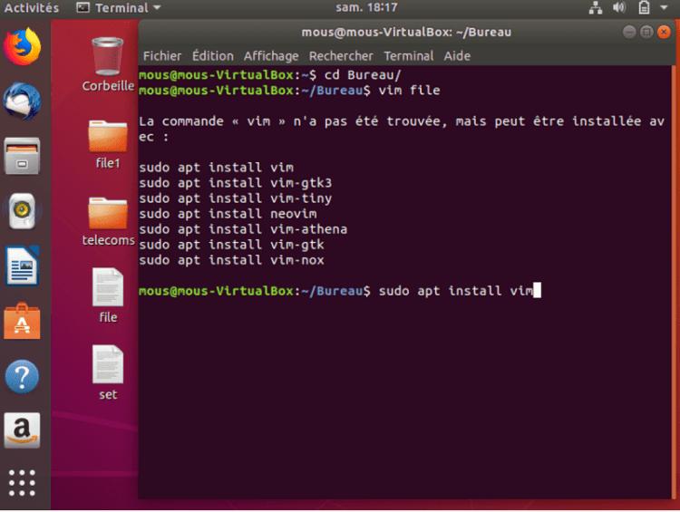 Installez le package vim pour éditer votre fichier