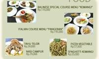 menu kemangi bali restaurant