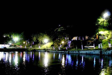 IMG-20171213-WA0030 Gandu: Prefeitura realiza ornamentação de natal no Lago Azul, cartão postal da cidade.