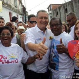 """Na Lapinha, governador Rui Costa afirma que é """"preciso reconstruir os pilares que fundamentaram o 2 de Julho"""""""