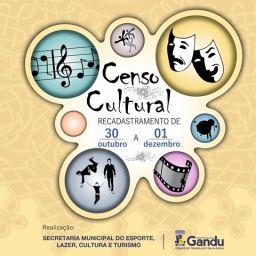 Secretaria Municipal da Cultura de Gandu inicia Censo Cultural.