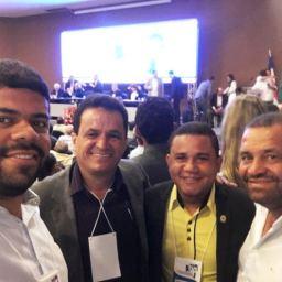 Prefeito de Gandu participou de encontro estadual do seu partido PP, em Salvador.
