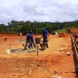 Gandu: Obras de construção do campo society de Água Preta seguem em rítmo acelerado