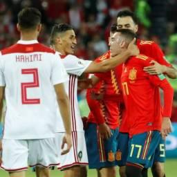 Espanha empata com Marrocos e enfrentará a Rússia nas oitavas