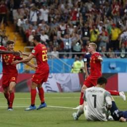 Bélgica vira e vence o Japão por 3 a 2