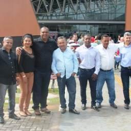Prefeito de Piraí do Norte e comitiva participa da entrega da Policlínica Regional de Valença.