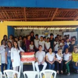 Prefeitura de Gandu promove ações de saúde com crianças do projeto AABB Comunidade.