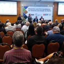 Pré-candidatos Rui Costa e José Ronaldo debatem economia
