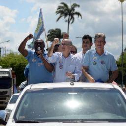 Zé Ronaldo faz carreata em nove cidades: 'Dia de acolhimento'