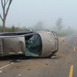 Ipiaú: Animal na pista provoca acidente na BR-330 e deixa quatro feridos