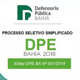 Defensoria Bahia abre processo seletivo simplificado {REDA DPE-BA}