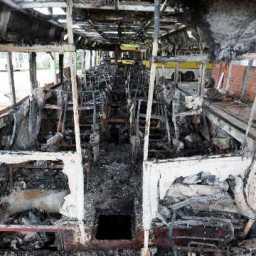 Em nova noite de ataques, homens armados incendeiam ônibus e posto no Ceará