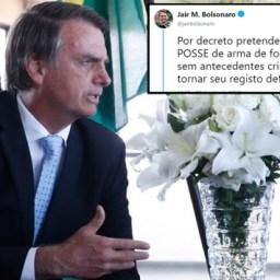 Proposta de Bolsonaro de liberar posse de armas por decreto é ilegal, dizem técnicos do STF