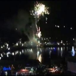 Queima de fogos marca a chegada do Ano Novo em Gandu