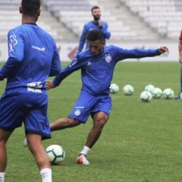 Bahia faz último treino antes de enfrentar o Athletico-PR