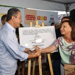Ipiaú: Rui lança sinal digital da TVE e entrega obras de abastecimento