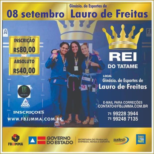 Lauro-de-Freitas-sedia-a-2%C2%AA-edi%C3%A7%C3%A3o-do-REI-DO-TATAME-de-Jiu-Jitsu REI DO TATAME de Jiu-Jitsu - 08/09 em Lauro de Freitas