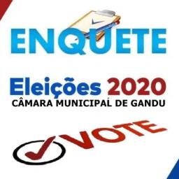 4ª enquete de intenção de voto para vereador (a) em Gandu
