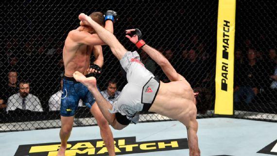 Zabit-Magomedsharipov-domina-Calvin-Kattar-e-vence-mais-uma-no-UFC Zabit Magomedsharipov domina Calvin Kattar e vence mais uma no UFC