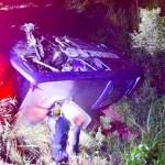 Ônibus lotado da Águia Branca cai em ribanceira em Minas Gerais