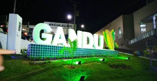 Gandu-ganha-novo-cart%C3%A3o-postal-com-o-nome-da-cidade-feito-em-pedras Gandu ganha novo cartão-postal com o nome da cidade feito em concreto