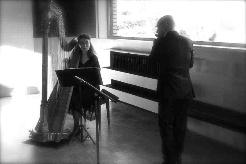 Virginie Tarrête et Jocelyn Daubigney. Concert d'Astrée. Villa Cavrois Crédit photo : Anne-Sandrine Di Girolamo
