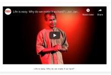 分享一个TED的视频:Life is easy. Why do we make it so hard?