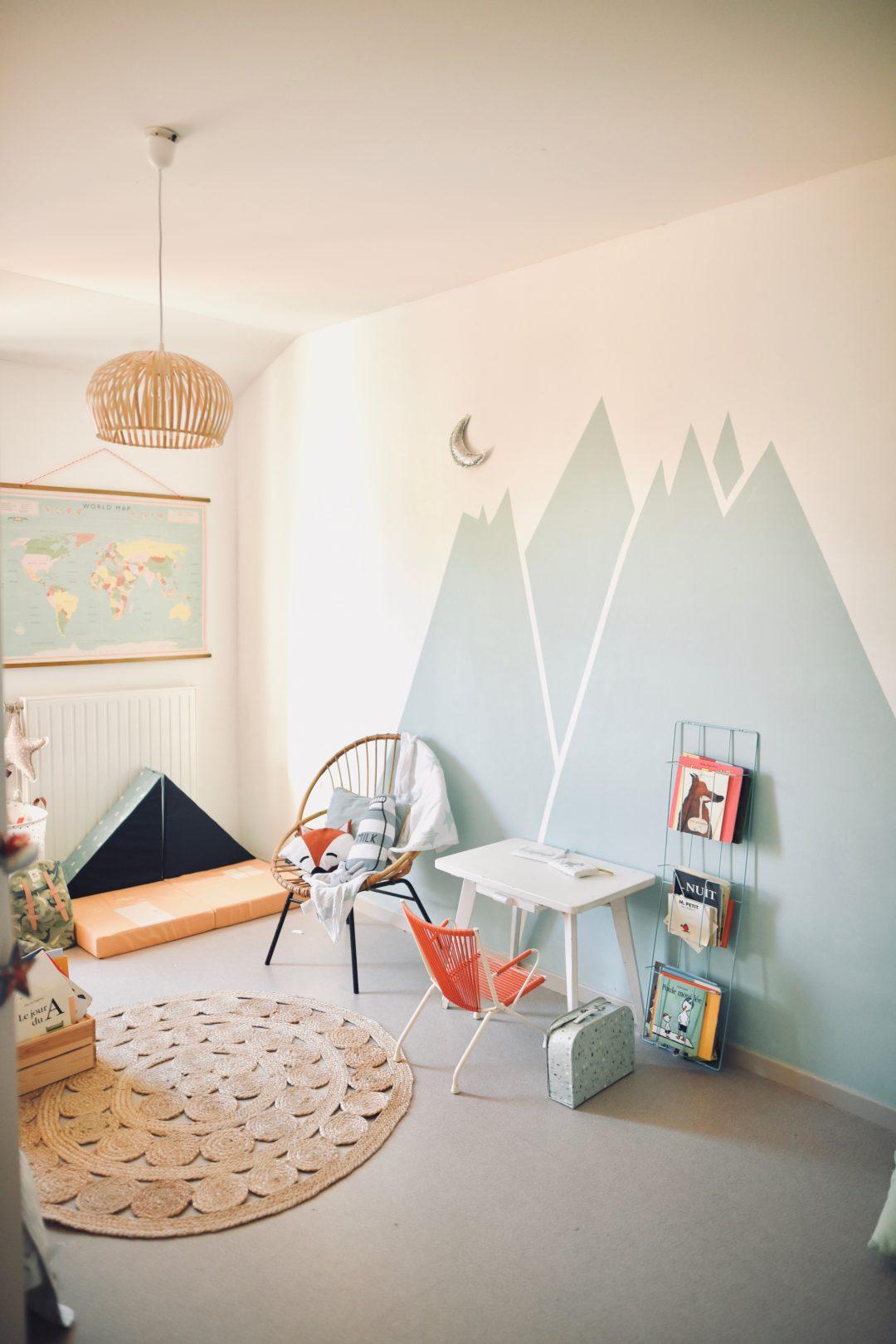 Id e d co peindre des montagnes dans une chambre d - Comment peindre une chambre d enfant ...