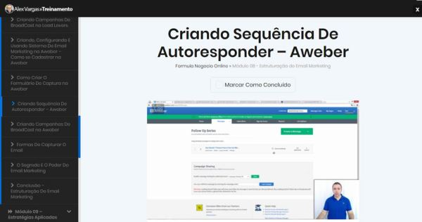 Aula sobre Email Marketing no Fórmula Negócio Online