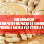 [Infográfico] Benefícios da pasta de amendoim integral: Aprenda a fazer a sua passo a passo
