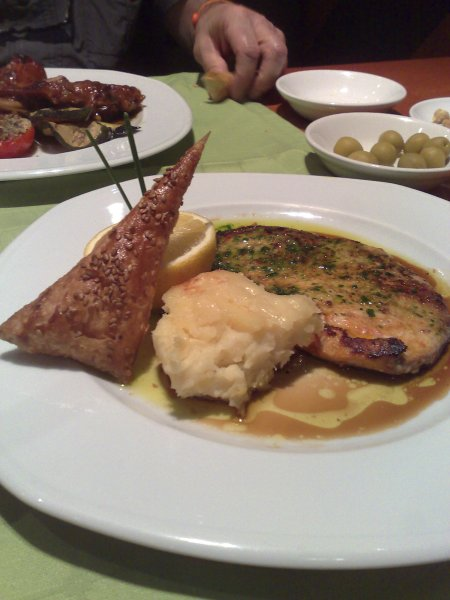 Swordfish at Cafe Leman