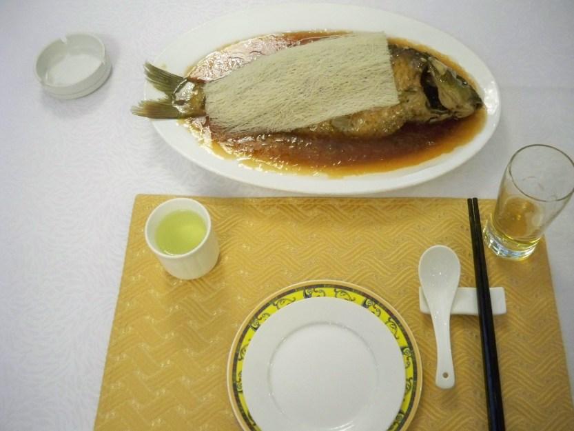 Sweet & sour carp with noodles