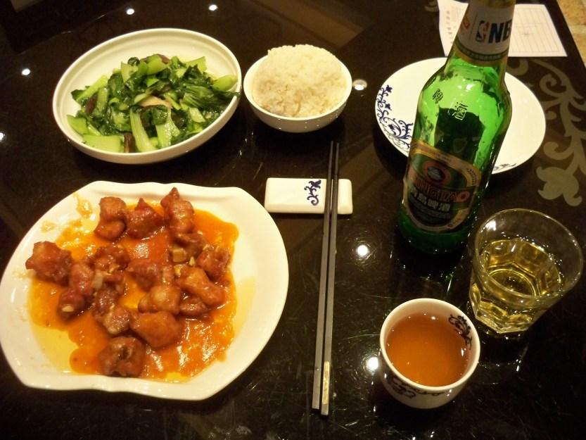 Wang Grun Xing ribs and pak choi