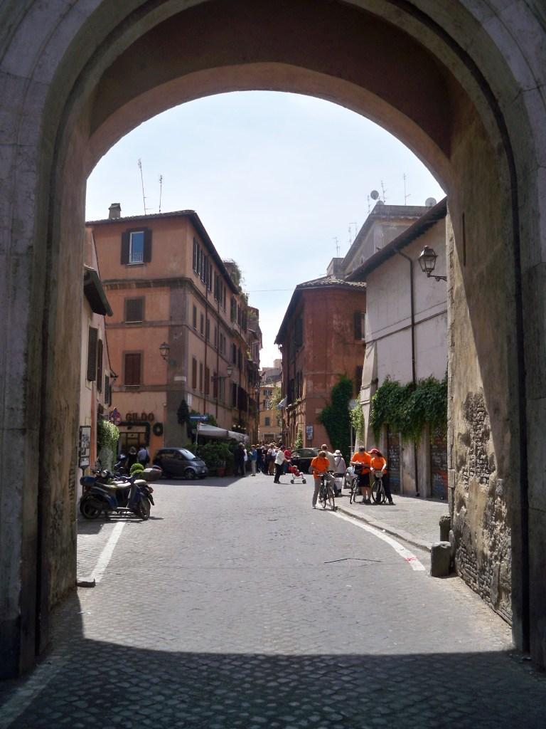 Trastevere arch