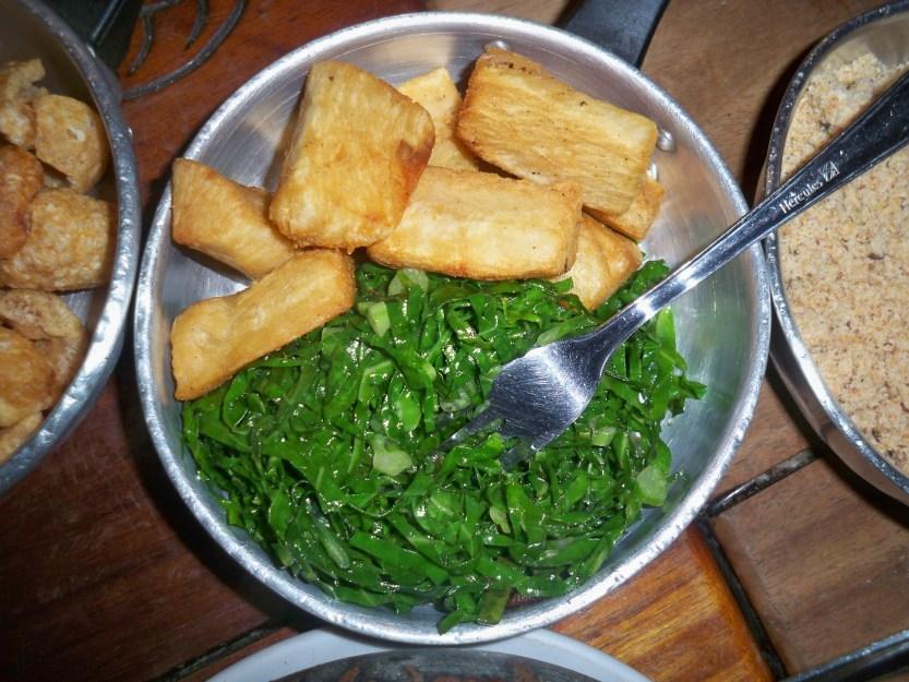 Kale and manioc