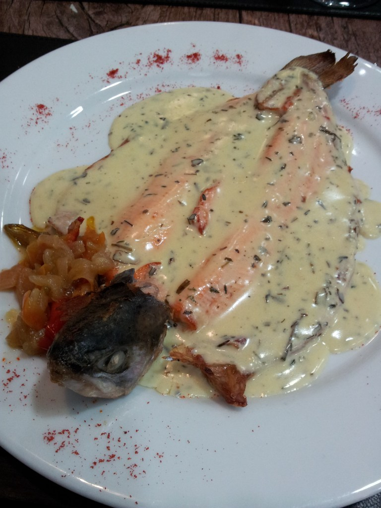 Glooped trout