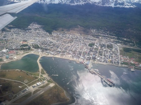 Ushuaia from above