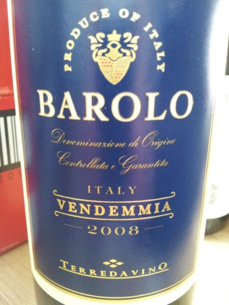 Bottle o Barolo