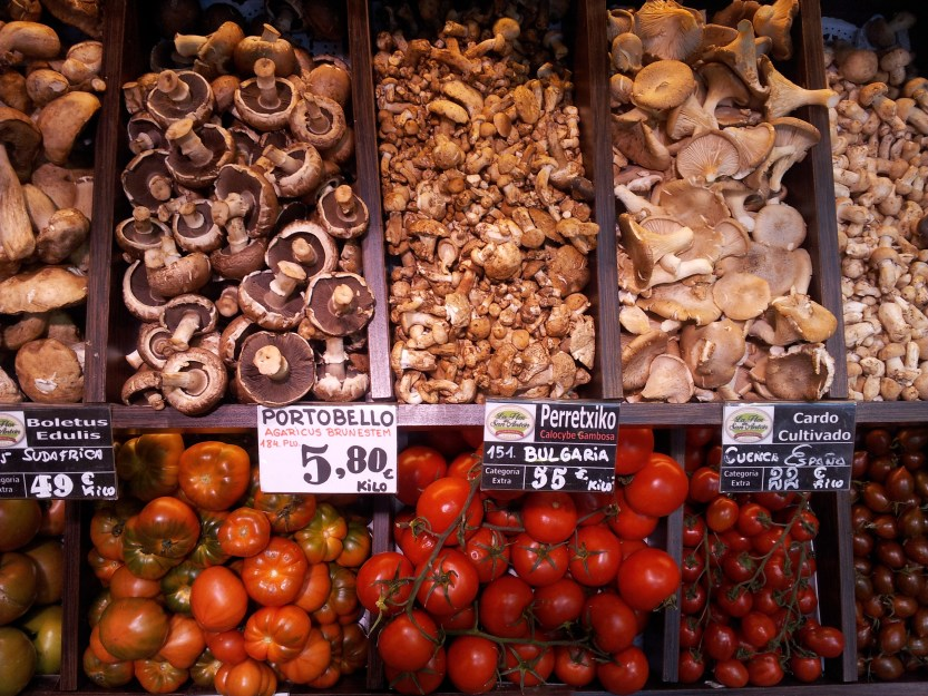 Mushrooms & Tomatoes