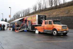 Pictured is the MEET-U Exhibit during a prior visit to campus. (Provided photo)