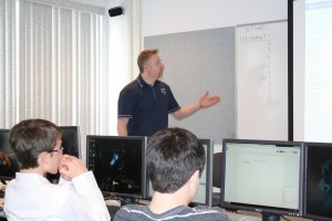 Instructor in IST Fred Terwilliger presents methods for collaborating on group projects while working online, and using the latest technological aids. (Provided photo)