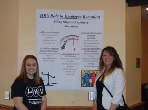 Abbey Homan and Sara Graham, business majors (Provided photo)