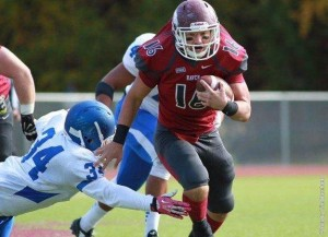 LHU senior Beau Swales (Clearfield) scored two TDs Saturday (Photo courtesy LHU Athletics)