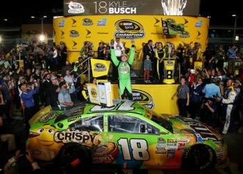 A broken leg and a broken foot could not keep Kyle Busch down.  In the end, it earned him a championship.