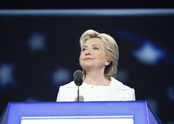 Hillary Clinton speaks at the 2016 Democratic National Convention.