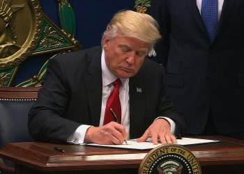"""President Donald Trump took executive action Friday on curbing access visas and limiting refugees coming to the US. Titled """"Protection Of The Nation From Foreign Terrorist Entry Into The United States,"""" the action institutes what the President has called """"extreme vetting"""" of immigrants."""