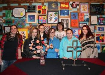 From left are Courteney DeHaven, Jade Steele, Andrew Shaffer, Lexi Douglas, Logan Fisher, Hannah Flynn and Lily Kiehlmeier. (Provided photo)